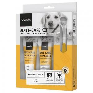 Denti-Care set - Eetbare tandpasta en accessoires voor kat & hond - Animigo - 70g tube